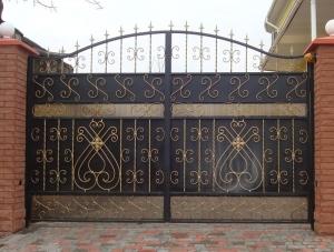 Кованые ворота в Чехове