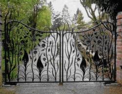 Кованые ворота в Дмитрове