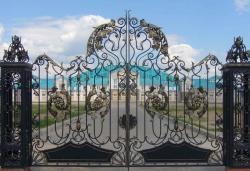 Кованые ворота в Серпухове