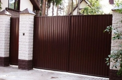 Ворота из профнастила в Дмитрове